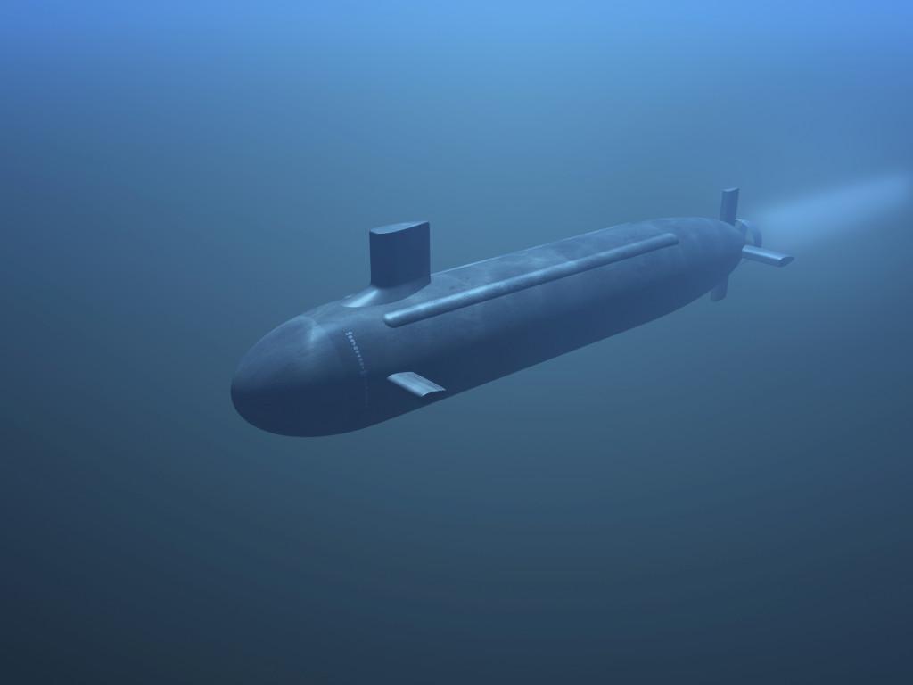 подводная лодка в холодной воде