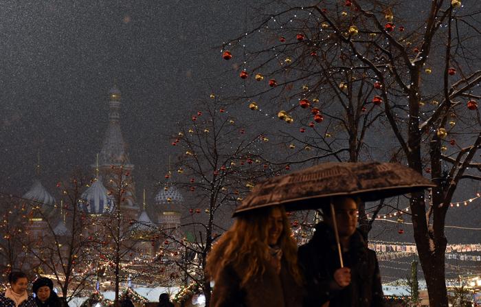 Москва, Новый год, фото дня