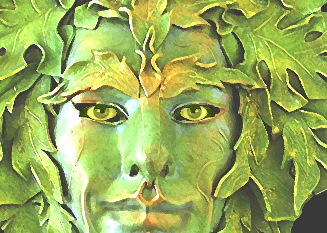 Зелёный человек, картина Лорен Рейн.