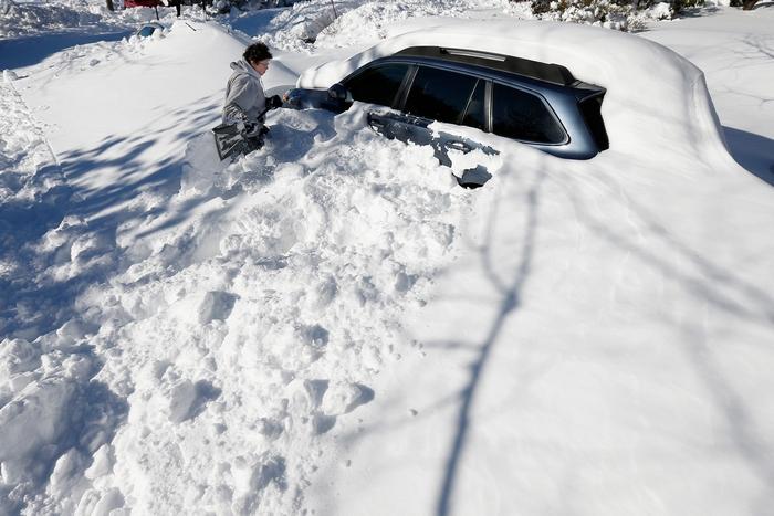 на США обрушились снегопады