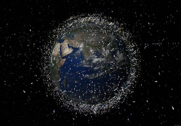 Война на Земле может разгореться из-за большого количества мусора в околоземном пространстве, предупреждают учёные.