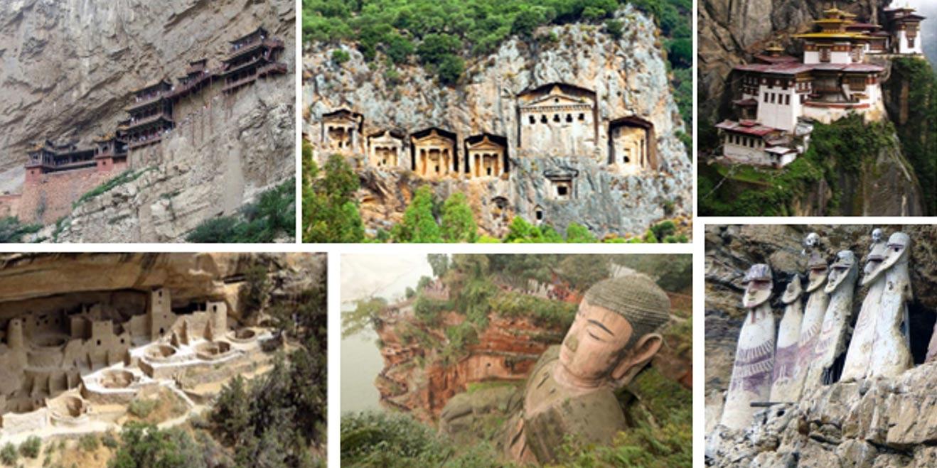 В мире есть много древних сооружений на скалистых склонах горах