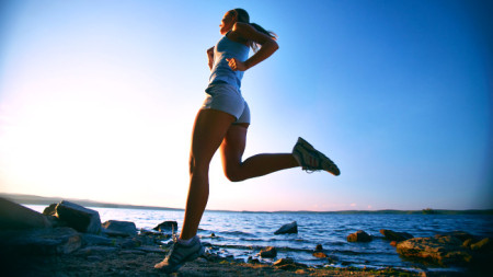 бег, девушка, питание при беге