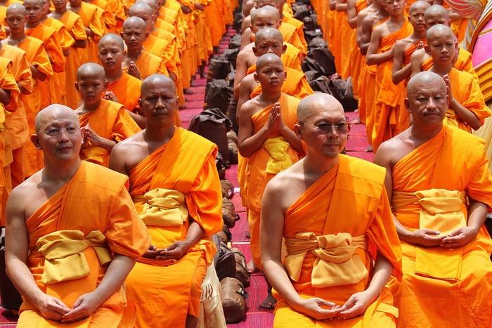 тело монаха, буддист, улыбка