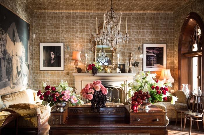 гостиная, оформление, интерьер, Классический стиль