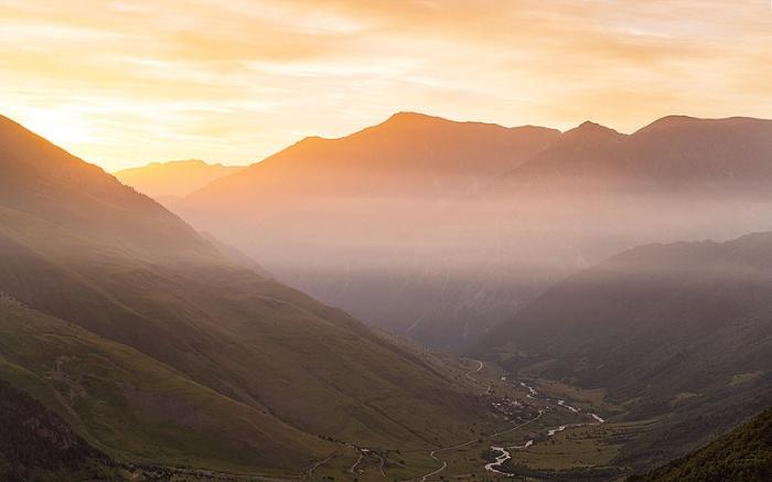 Национальный парк Алания. Рассвет с вершины горы