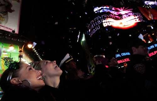 Фотообзор: В Нью-Йорке встретили Новый Год