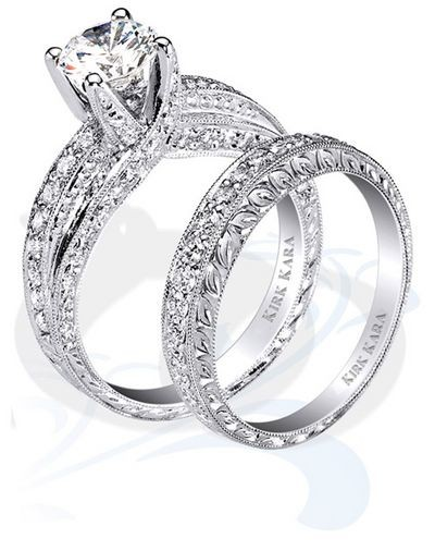 Роскошные свадебные кольца Kirk Kara