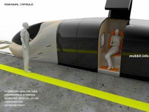 Поезд будущего с одноместными купе (видео)