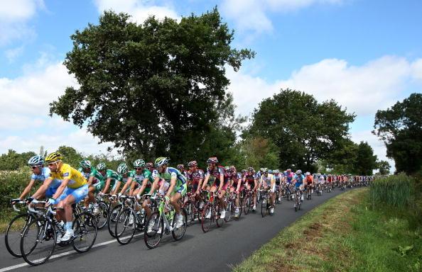 """115 vrs200807093 - Фотообзор: Велоспорт. 5-й этап """"Тур де Франс"""""""