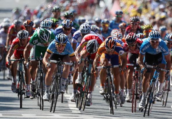 """115 vrs200807097 - Фотообзор: Велоспорт. 5-й этап """"Тур де Франс"""""""