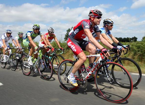"""115 vrs200807099 - Фотообзор: Велоспорт. 5-й этап """"Тур де Франс"""""""