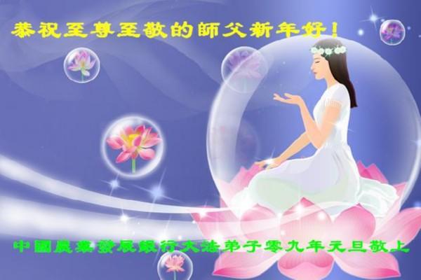 115 3112 heka1 - Фотообзор: Поздравительные новогодние открытки основателю Фалуньгун, присланные из Китая