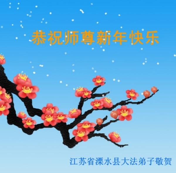 115 3112 heka13 - Фотообзор: Поздравительные новогодние открытки основателю Фалуньгун, присланные из Китая