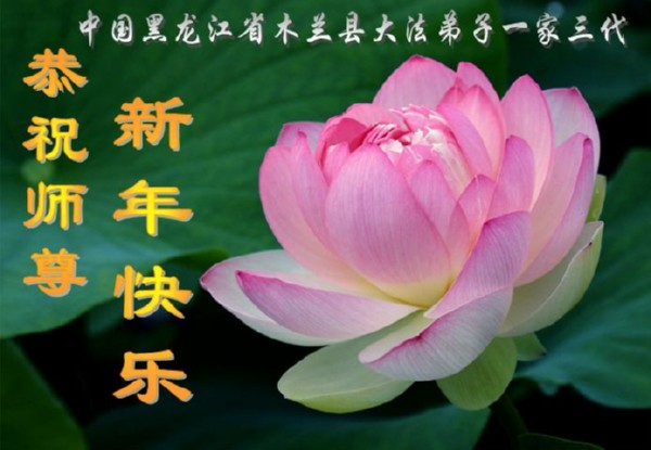 115 3112 heka16 - Фотообзор: Поздравительные новогодние открытки основателю Фалуньгун, присланные из Китая