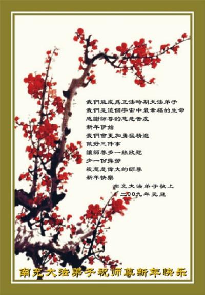 115 3112 heka17 - Фотообзор: Поздравительные новогодние открытки основателю Фалуньгун, присланные из Китая