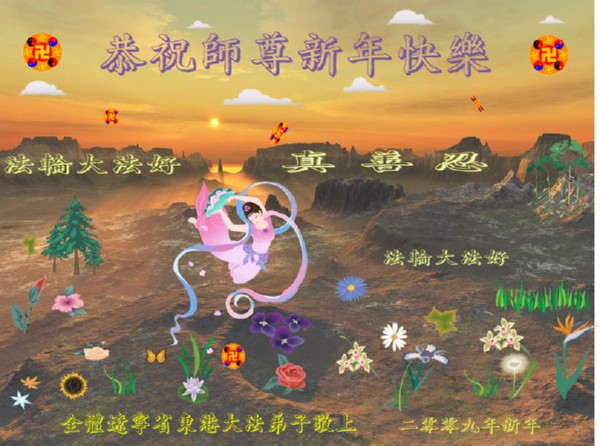 115 3112 heka26 - Фотообзор: Поздравительные новогодние открытки основателю Фалуньгун, присланные из Китая