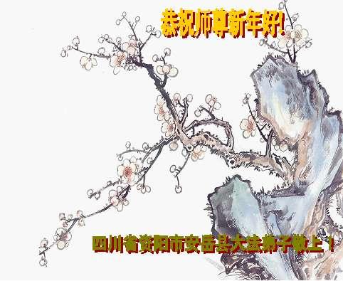 115 3112 heka28 - Фотообзор: Поздравительные новогодние открытки основателю Фалуньгун, присланные из Китая
