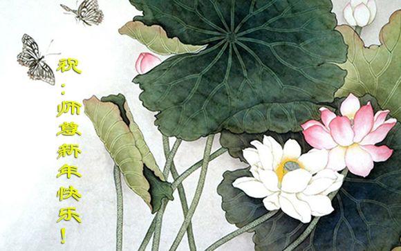 115 3112 heka30 - Фотообзор: Поздравительные новогодние открытки основателю Фалуньгун, присланные из Китая