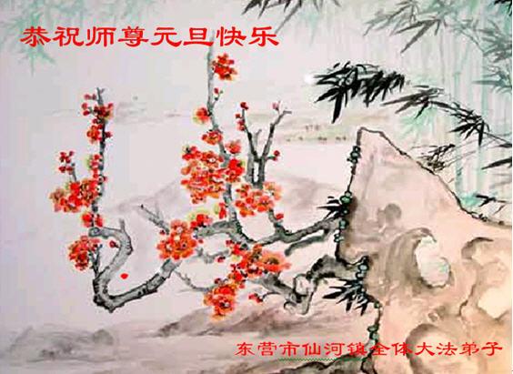 115 3112 heka31 - Фотообзор: Поздравительные новогодние открытки основателю Фалуньгун, присланные из Китая