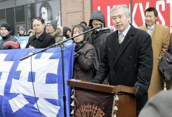 Нью-Йорк: Митинг, посвященный выходу 50 млн. человек из компартии Китая