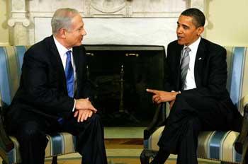63 090519 Abama - Обама на встрече с израильским премьером заговорил о палестинском государстве