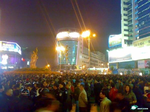 В Сычуани произошел массовый протест против насилия городских контролеров