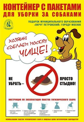 «Отсутствие пакетов при выгуле собак можно приравнять к отсутствию бумаги в общественном туалете!»