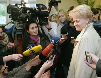 Впервые на выборах президента Литвы победу одержала женщина
