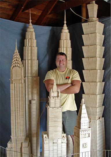 149 yqjzh12 - Фотообзор: Американец построил  копии памятников архитектуры  из 6 млн зубочисток