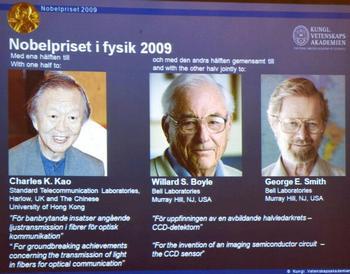 Нобелевская премия  вручена за достижения в области физики