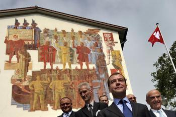 При встрече с Медведевым швейцарские власти не стали поднимать вопросы прав человека в России