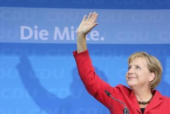 161 27 09 2009 MERK - Ангела Меркель не скрывала радости от предварительных итогов голосования