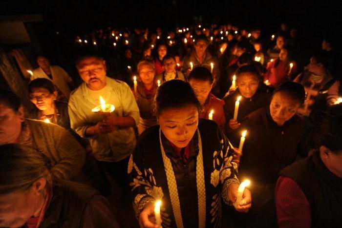 163 Tibet 200213 - Тибетцы отметили в Непале сотый случай самосожжения в знак протеста правлению КПК