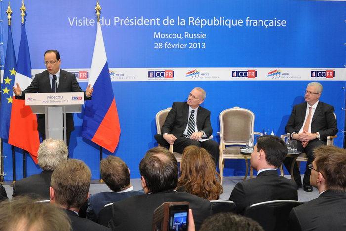 Франсуа Олланд встретился с российскими правозащитниками и экологами