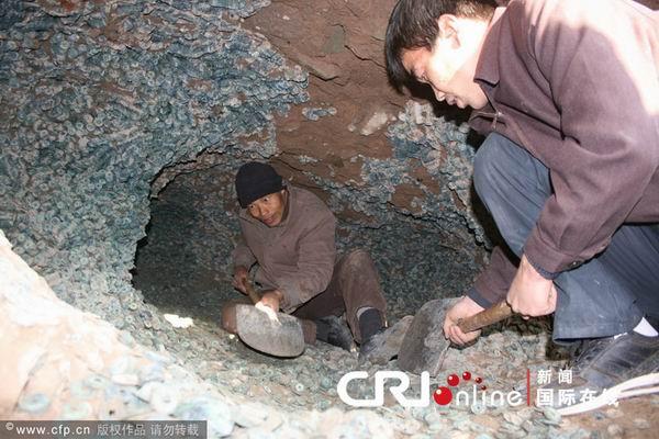 137 2312 qianjiao2 - В Китае в провинции Шэньси нашли огромный клад старинных монет
