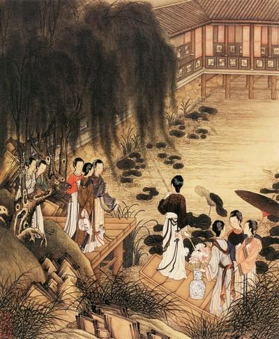 Китайская живопись: Прогулки под полной и ясной луной
