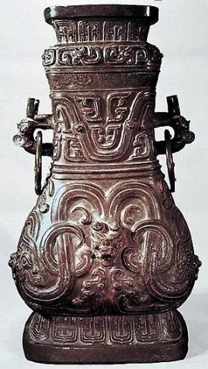 Драконы на предметах утвари Древнего Китая