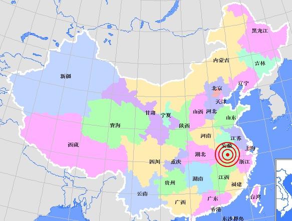 Землетрясение произошло на востоке Китая
