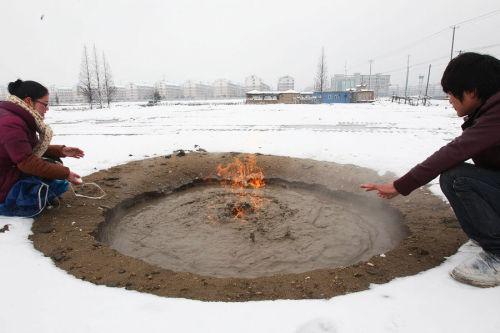 137 u91 2401 huo - Необычное явление в Китае: горящая вода