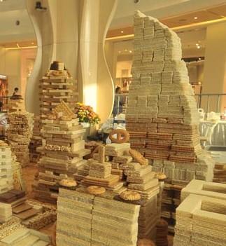 Город из печенья построили в Шанхае