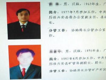 Китайские чиновники скрывают свои лица
