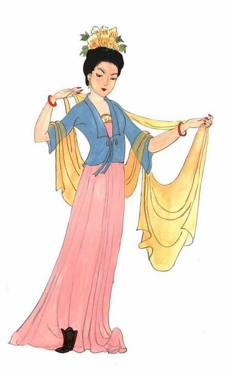 Изящество и красота костюмов эпохи Династии Тан