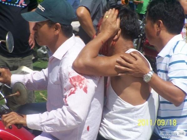 Кровавое нападение на протестующих крестьян произошло на юге Китая