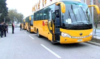 Китай ради международного имиджа подарил Македонии 23 школьных автобуса