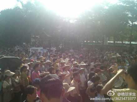 142 guandongg2 - Крестьяне на юге Китая требуют отставки партийного секретаря