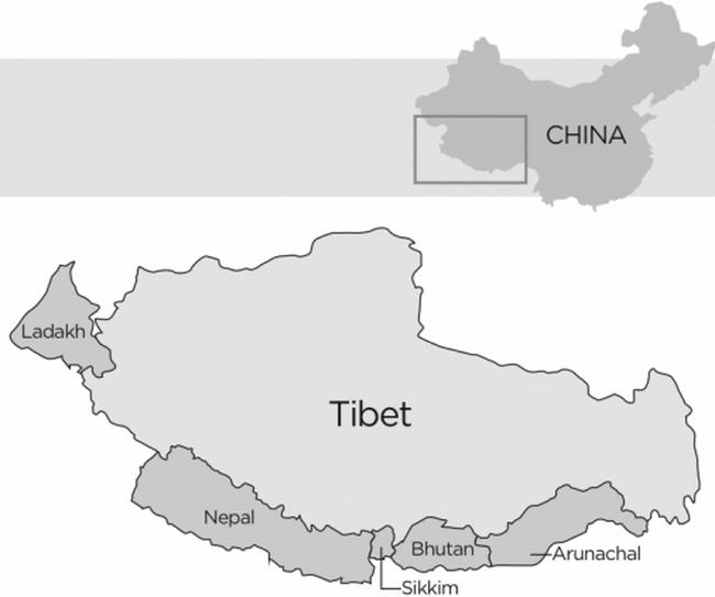 191 map - Что получил Китай от покорения Тибета?