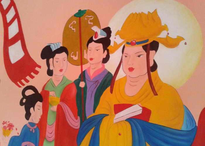 Реставрация китайской фрески проходит крайне небрежно