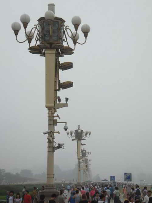 В сети появились фотографии инцидента на площади Тяньаньмэнь