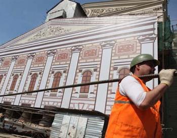 Реставрация Большого театра закончится в срок